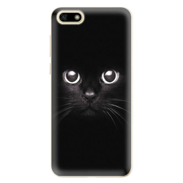 Odolné silikonové pouzdro iSaprio - Black Cat - Huawei Y5 2018