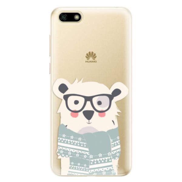 Odolné silikonové pouzdro iSaprio - Bear with Scarf - Huawei Y5 2018