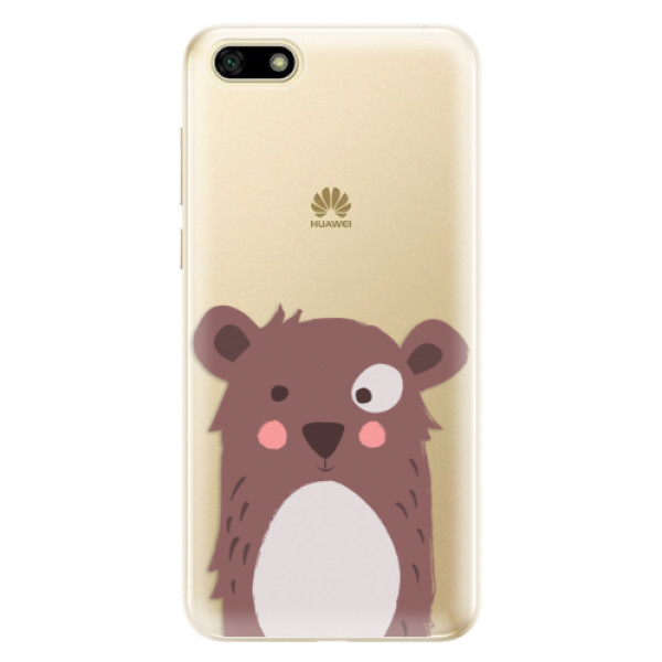 Odolné silikonové pouzdro iSaprio - Brown Bear - Huawei Y5 2018