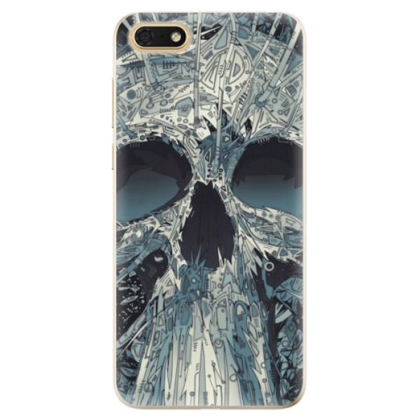 Odolné silikonové pouzdro iSaprio - Abstract Skull - Huawei Honor 7S