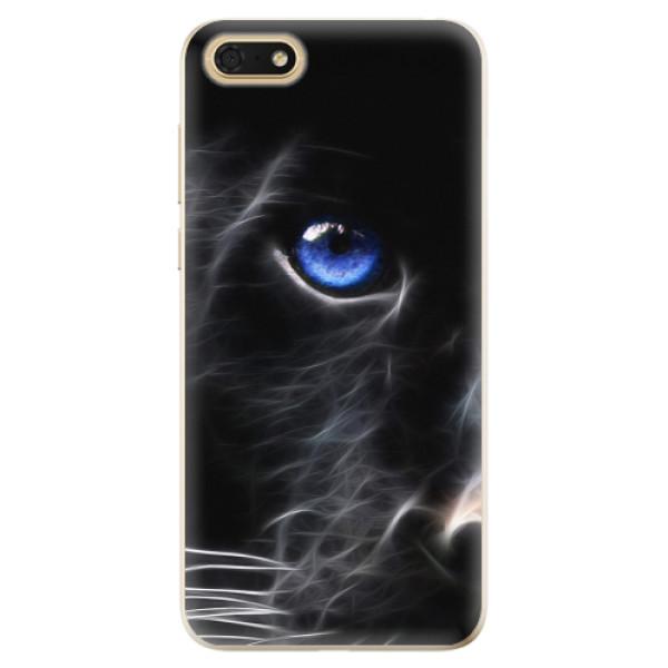 Odolné silikonové pouzdro iSaprio - Black Puma - Huawei Honor 7S