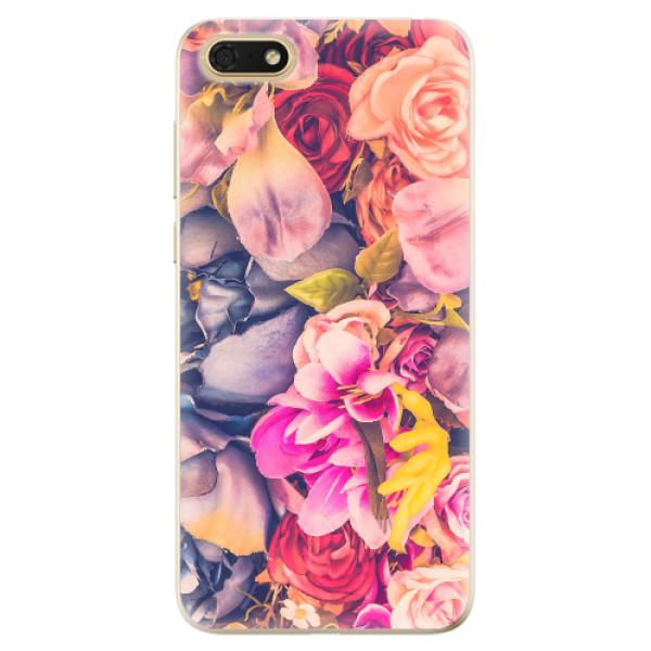 Odolné silikonové pouzdro iSaprio - Beauty Flowers - Huawei Honor 7S