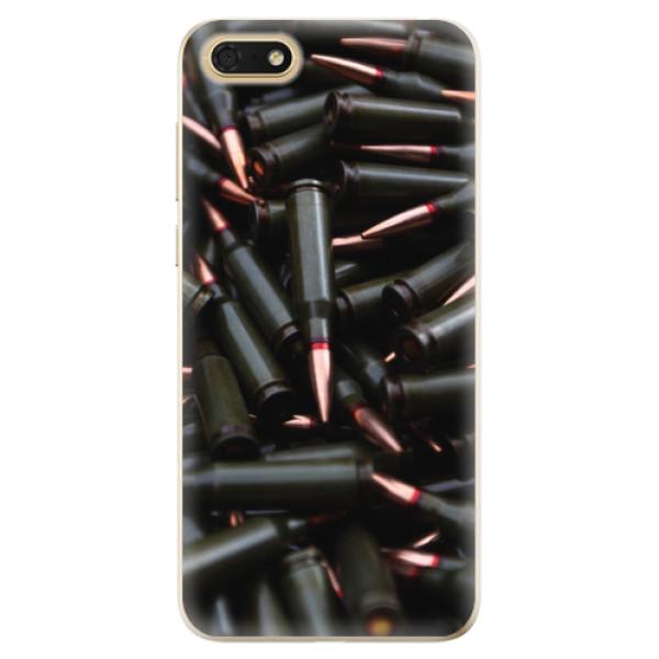 Odolné silikonové pouzdro iSaprio - Black Bullet - Huawei Honor 7S