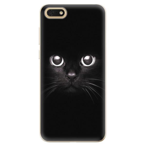 Odolné silikonové pouzdro iSaprio - Black Cat - Huawei Honor 7S