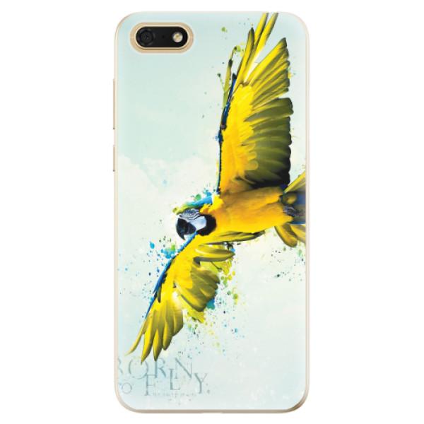 Odolné silikonové pouzdro iSaprio - Born to Fly - Huawei Honor 7S