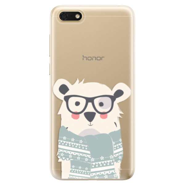 Odolné silikonové pouzdro iSaprio - Bear with Scarf - Huawei Honor 7S
