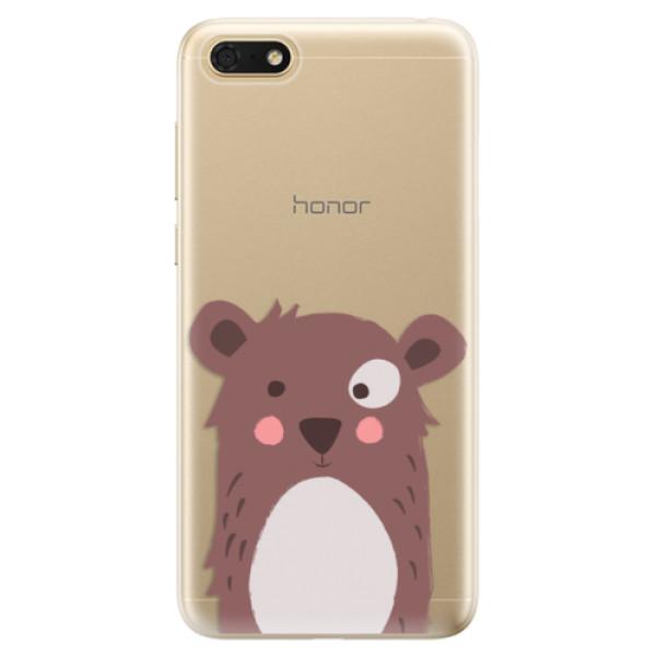 Odolné silikonové pouzdro iSaprio - Brown Bear - Huawei Honor 7S