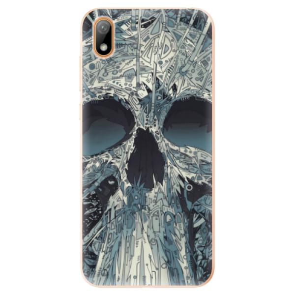 Odolné silikonové pouzdro iSaprio - Abstract Skull - Huawei Y5 2019
