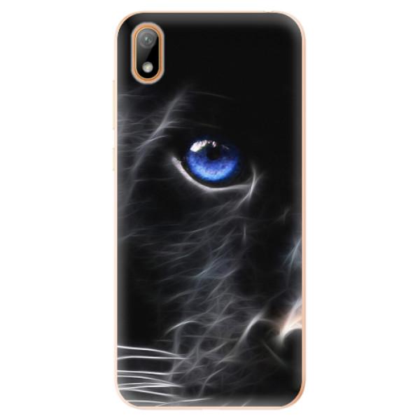 Odolné silikonové pouzdro iSaprio - Black Puma - Huawei Y5 2019