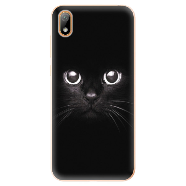 Odolné silikonové pouzdro iSaprio - Black Cat - Huawei Y5 2019