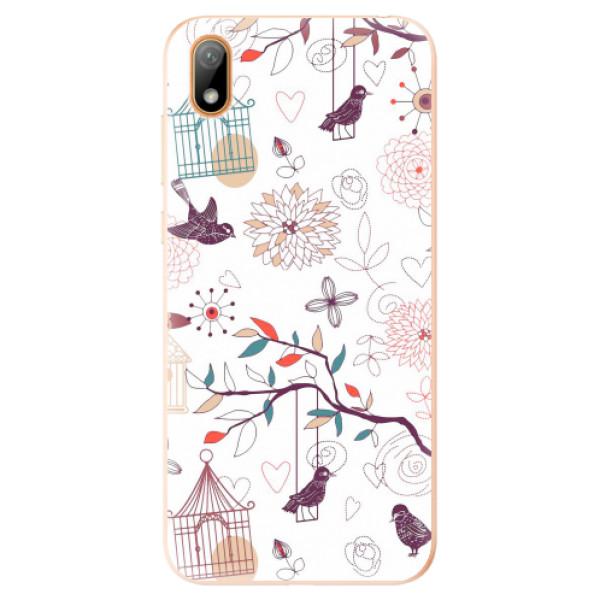 Odolné silikonové pouzdro iSaprio - Birds - Huawei Y5 2019