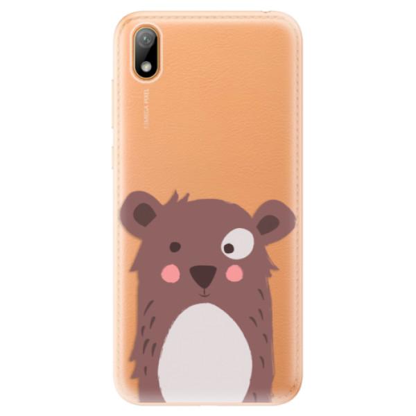 Odolné silikonové pouzdro iSaprio - Brown Bear - Huawei Y5 2019