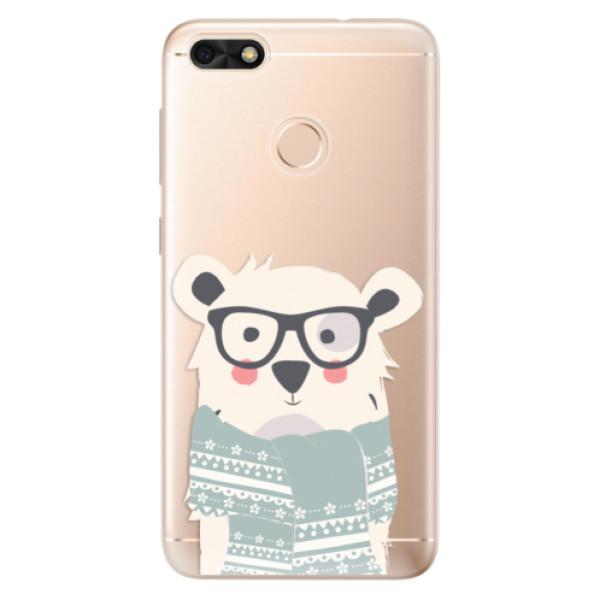 Odolné silikonové pouzdro iSaprio - Bear with Scarf - Huawei P9 Lite Mini