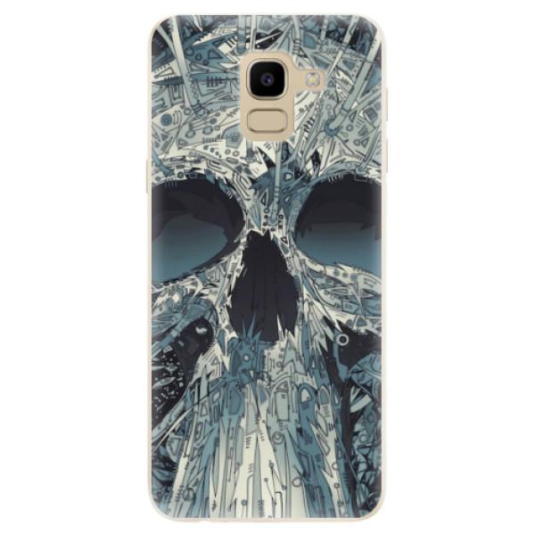 Odolné silikonové pouzdro iSaprio - Abstract Skull - Samsung Galaxy J6