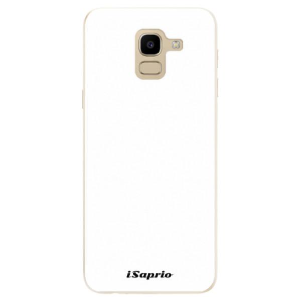 Odolné silikonové pouzdro iSaprio - 4Pure - bílý - Samsung Galaxy J6