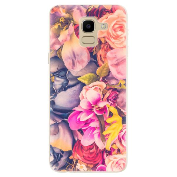 Odolné silikonové pouzdro iSaprio - Beauty Flowers - Samsung Galaxy J6