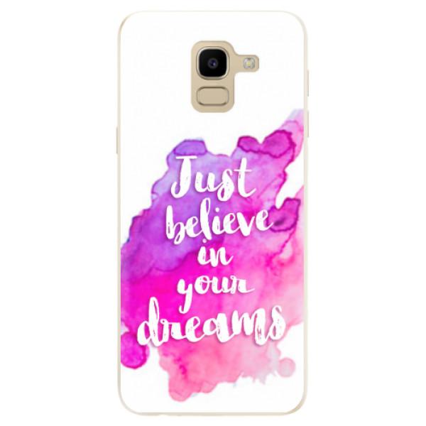 Odolné silikonové pouzdro iSaprio - Believe - Samsung Galaxy J6