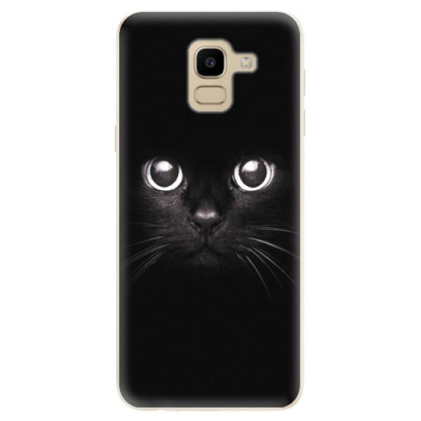 Odolné silikonové pouzdro iSaprio - Black Cat - Samsung Galaxy J6