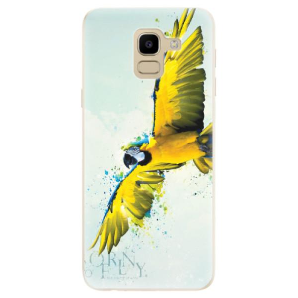 Odolné silikonové pouzdro iSaprio - Born to Fly - Samsung Galaxy J6