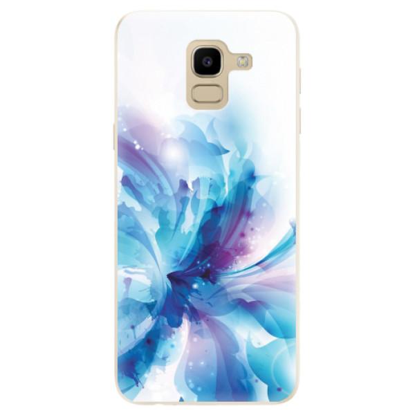 Odolné silikonové pouzdro iSaprio - Abstract Flower - Samsung Galaxy J6