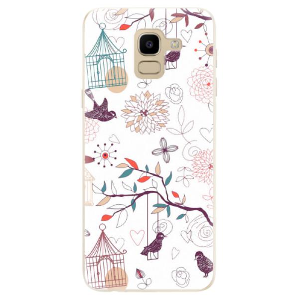 Odolné silikonové pouzdro iSaprio - Birds - Samsung Galaxy J6