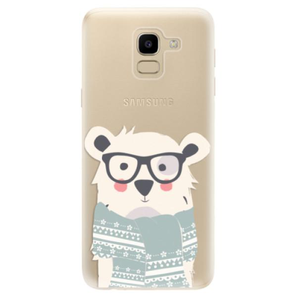 Odolné silikonové pouzdro iSaprio - Bear with Scarf - Samsung Galaxy J6