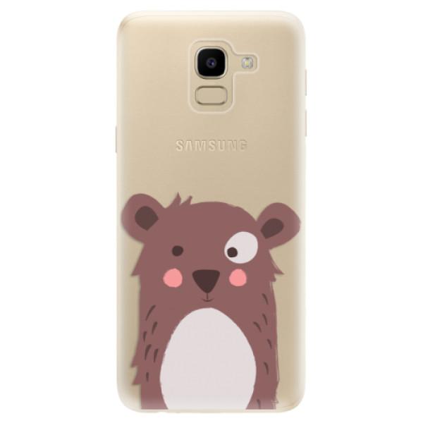 Odolné silikonové pouzdro iSaprio - Brown Bear - Samsung Galaxy J6