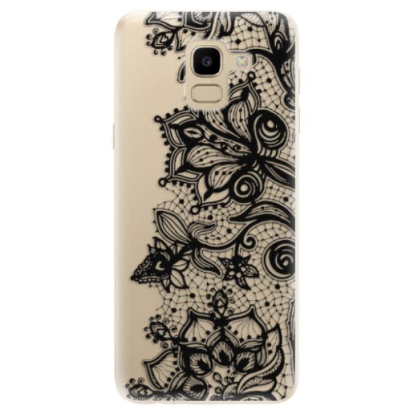 Odolné silikonové pouzdro iSaprio - Black Lace - Samsung Galaxy J6