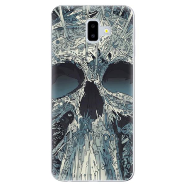 Odolné silikonové pouzdro iSaprio - Abstract Skull - Samsung Galaxy J6+