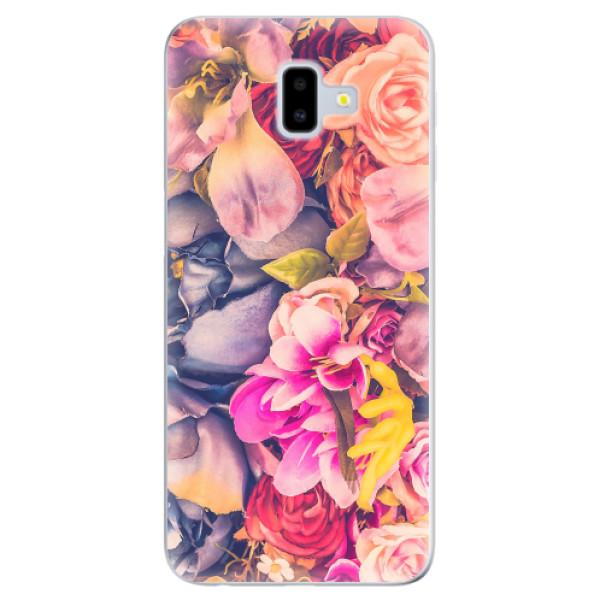 Odolné silikonové pouzdro iSaprio - Beauty Flowers - Samsung Galaxy J6+