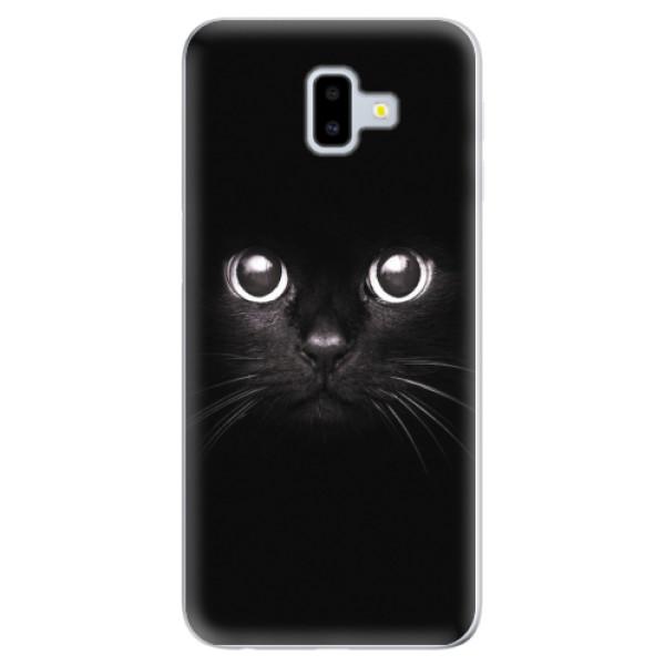 Odolné silikonové pouzdro iSaprio - Black Cat - Samsung Galaxy J6+