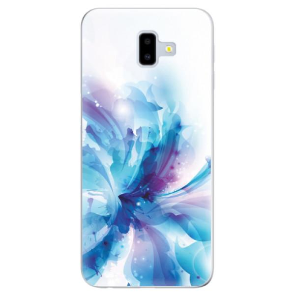 Odolné silikonové pouzdro iSaprio - Abstract Flower - Samsung Galaxy J6+