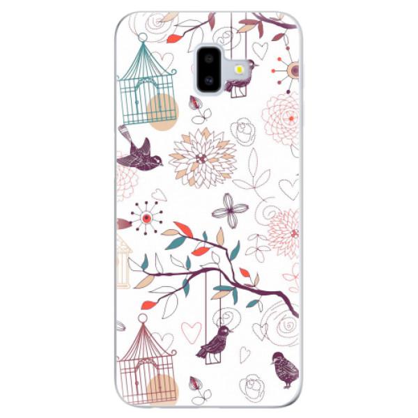 Odolné silikonové pouzdro iSaprio - Birds - Samsung Galaxy J6+