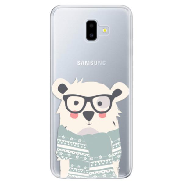 Odolné silikonové pouzdro iSaprio - Bear with Scarf - Samsung Galaxy J6+