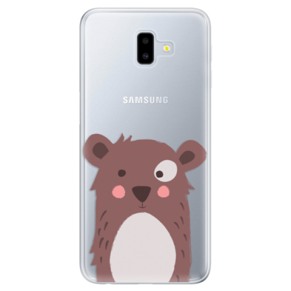 Odolné silikonové pouzdro iSaprio - Brown Bear - Samsung Galaxy J6+
