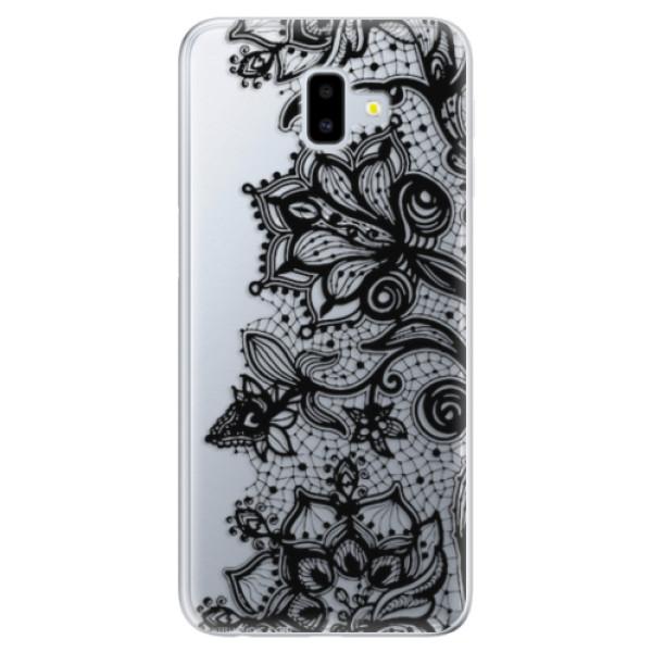 Odolné silikonové pouzdro iSaprio - Black Lace - Samsung Galaxy J6+