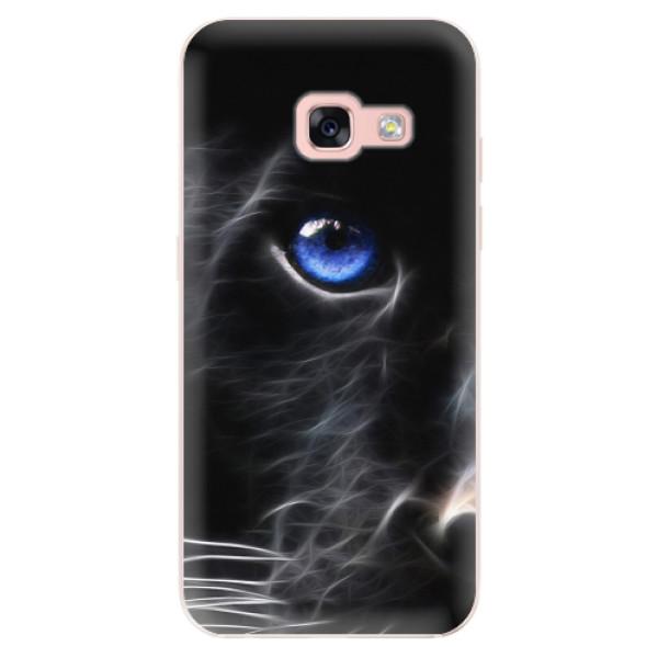 Odolné silikonové pouzdro iSaprio - Black Puma - Samsung Galaxy A3 2017