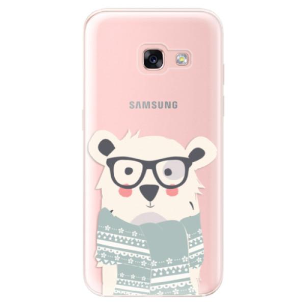 Odolné silikonové pouzdro iSaprio - Bear with Scarf - Samsung Galaxy A3 2017