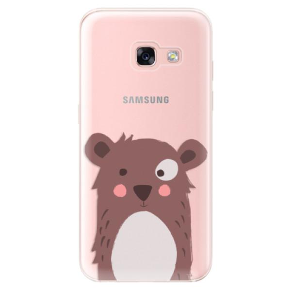 Odolné silikonové pouzdro iSaprio - Brown Bear - Samsung Galaxy A3 2017