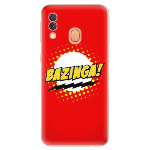 Odolné silikonové pouzdro iSaprio - Bazinga 01 - Samsung Galaxy A40