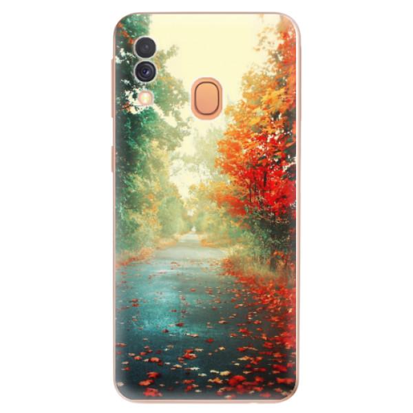 Odolné silikonové pouzdro iSaprio - Autumn 03 - Samsung Galaxy A40