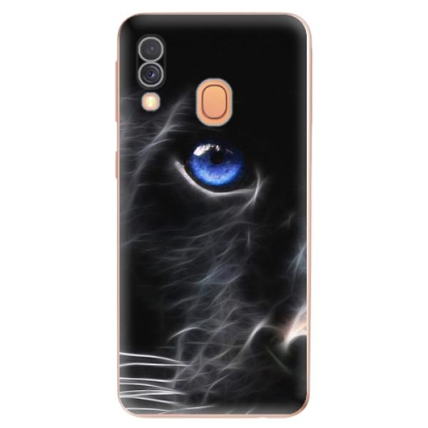 Odolné silikonové pouzdro iSaprio - Black Puma - Samsung Galaxy A40