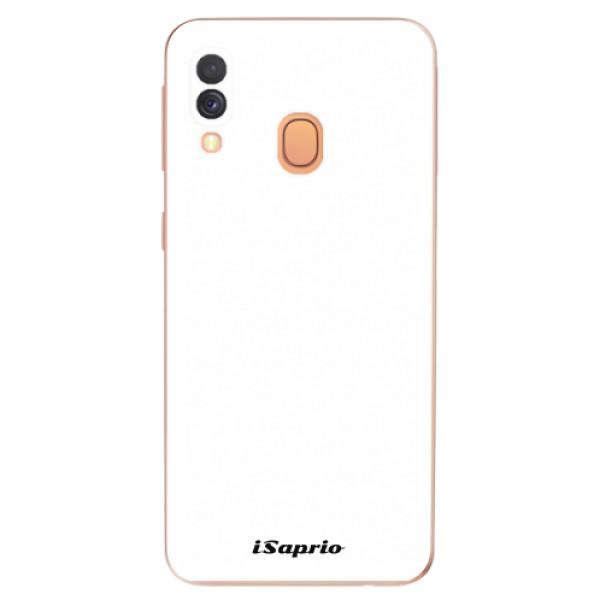 Odolné silikonové pouzdro iSaprio - 4Pure - bílý - Samsung Galaxy A40