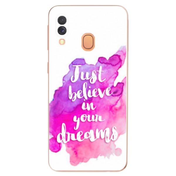 Odolné silikonové pouzdro iSaprio - Believe - Samsung Galaxy A40