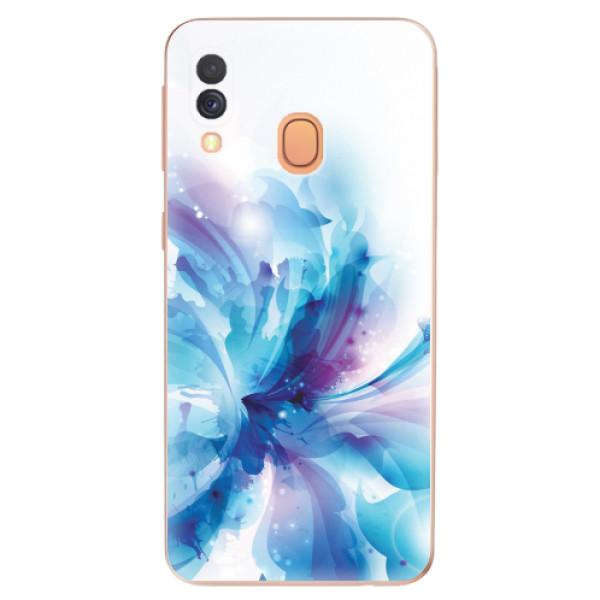 Odolné silikonové pouzdro iSaprio - Abstract Flower - Samsung Galaxy A40
