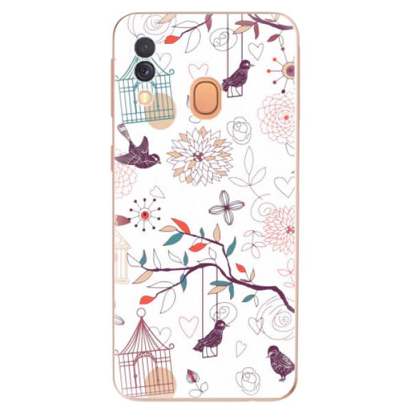 Odolné silikonové pouzdro iSaprio - Birds - Samsung Galaxy A40