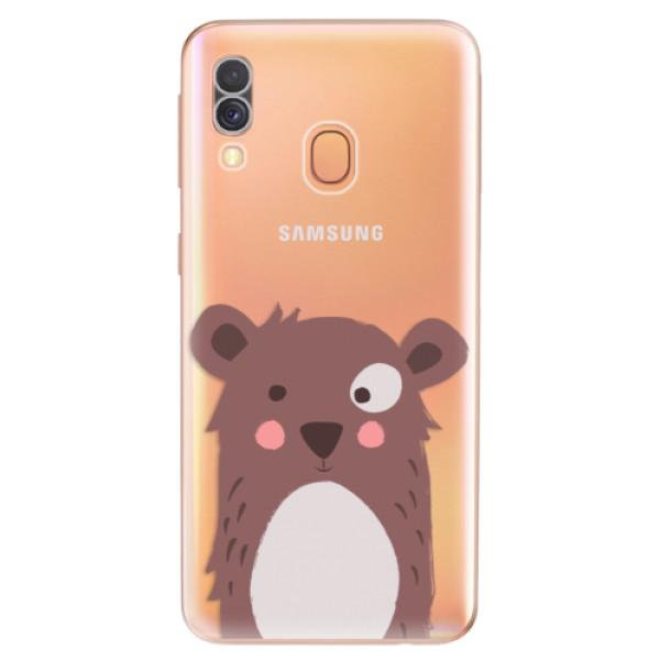 Odolné silikonové pouzdro iSaprio - Brown Bear - Samsung Galaxy A40