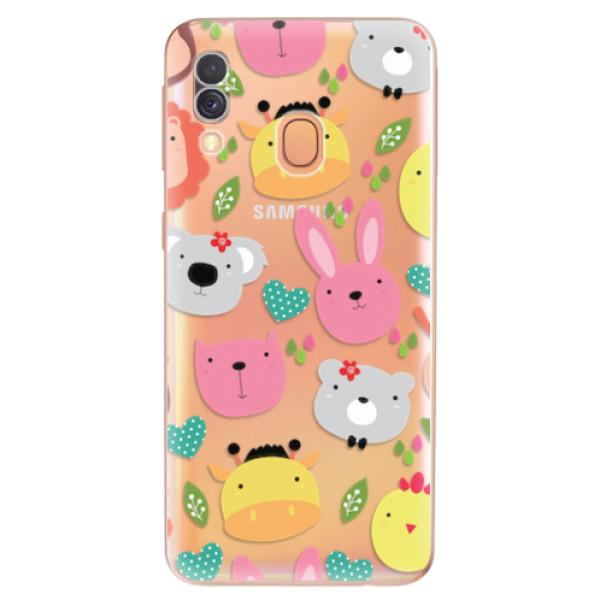 Odolné silikonové pouzdro iSaprio - Animals 01 - Samsung Galaxy A40