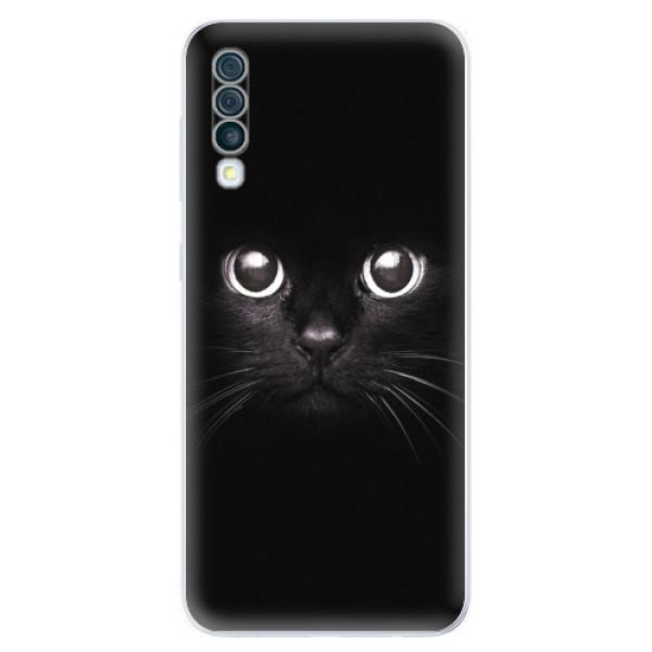 Odolné silikonové pouzdro iSaprio - Black Cat - Samsung Galaxy A50