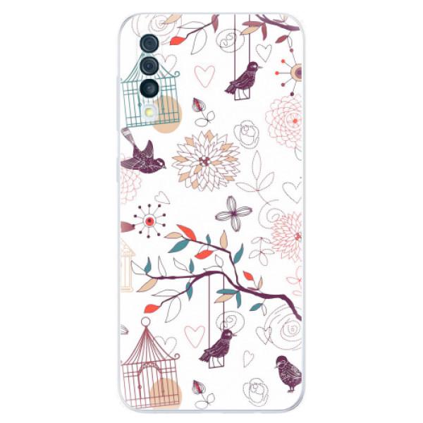 Odolné silikonové pouzdro iSaprio - Birds - Samsung Galaxy A50